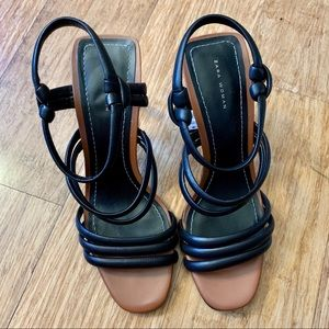 Zara Shoes - Clear lucite sandals